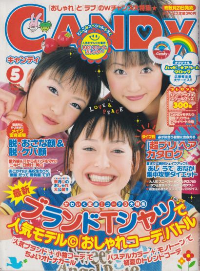 『CANDy』の表紙を飾る岡本さん