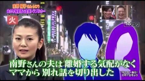 南野陽子の夫の不倫ニュース