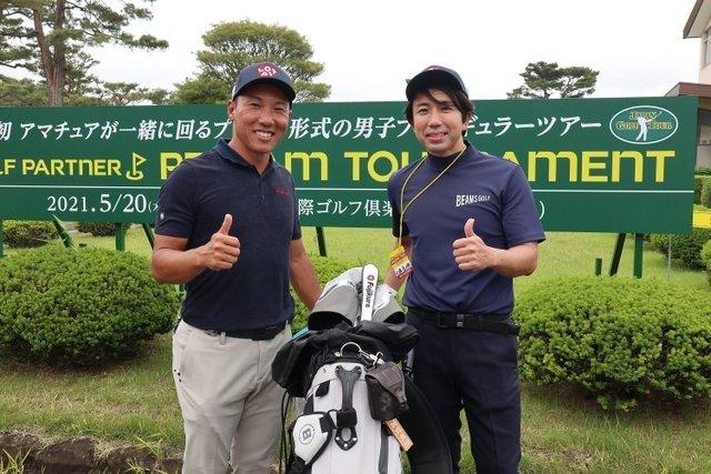 高木勇輔氏がゴルフをしている画像