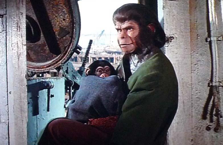 『新・猿の惑星』の中で二人の間に『マイロ』という子供が生まれるシーン