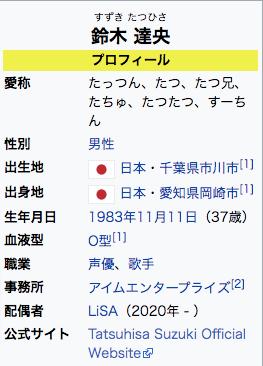 現在の鈴木達央のwikiプロフィール画像