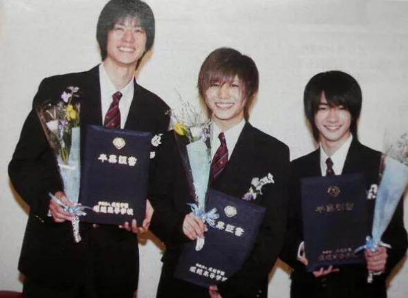 中島裕翔の堀越学園の卒業式の画像