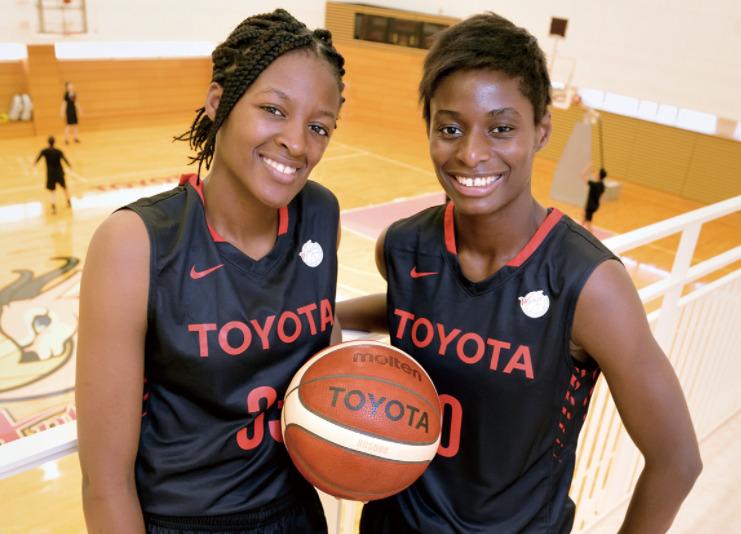 馬瓜エヴリン選手と妹のステファニー