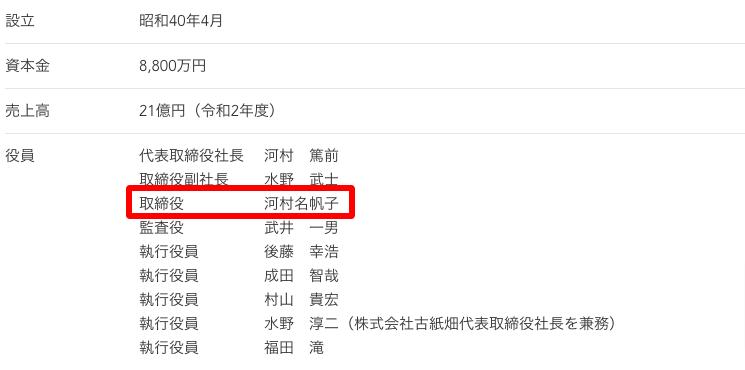 河村商事株式会社のホームページ