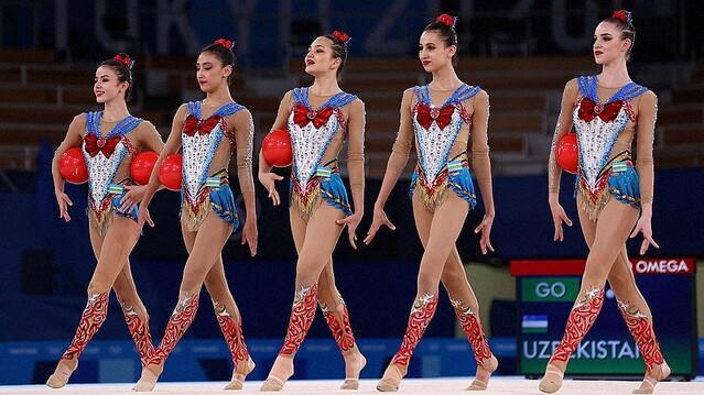新体操ウズベキスタン代表のレオタード衣装
